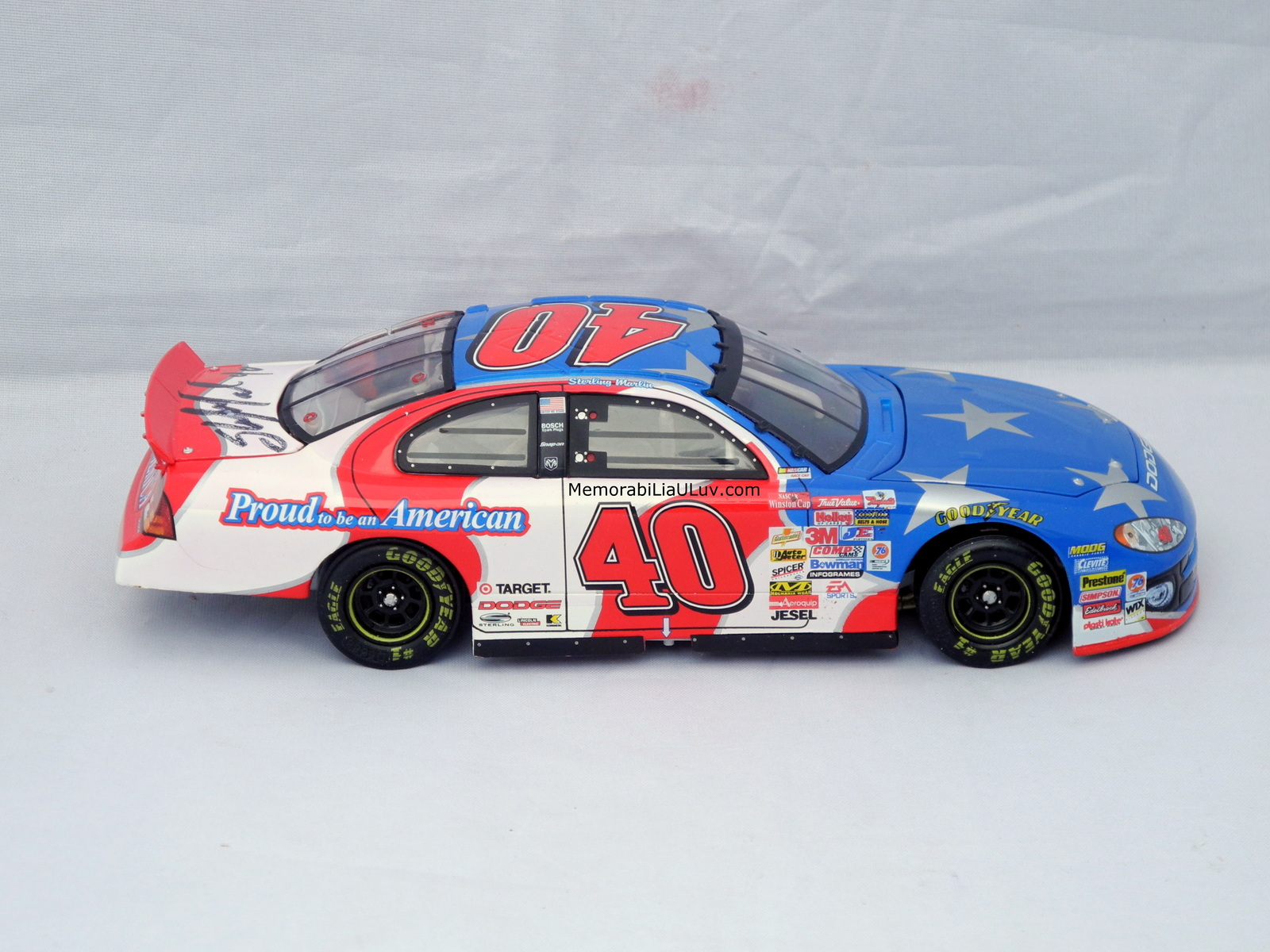 Sterling Marlin Proud to Be an American Signed 1:24 Diecast Model Nascar image 4