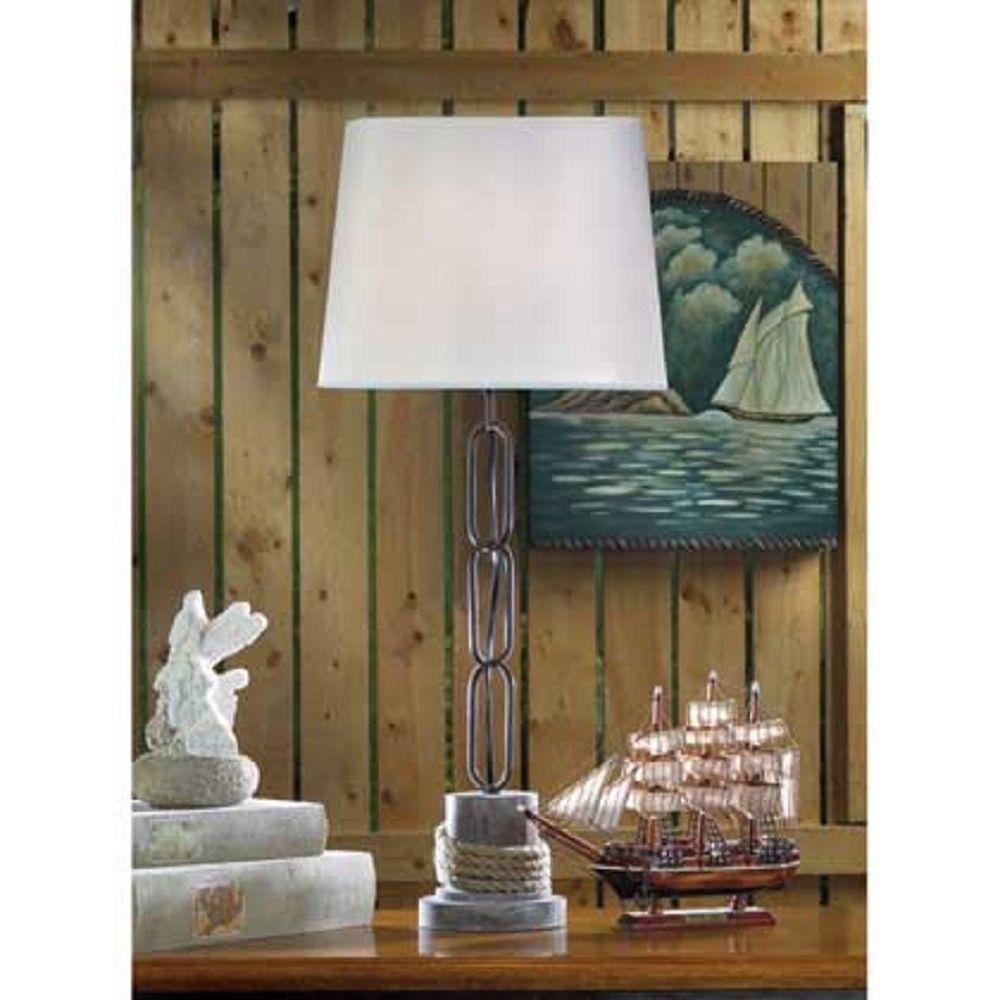 Nautical Rope Trim Table Lamp