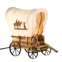 Western Cowboy Wagon Table Lamp image 1