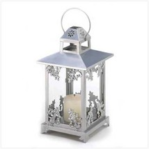 "10 Silver Candle Lantern Candleholder Wedding Centerpieces 15"" Tall - $185.00"