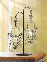"15 Black Chandelier Candelabra CANDLE HOLDER Wedding CENTERPIECES 18""Tall - $235.00"