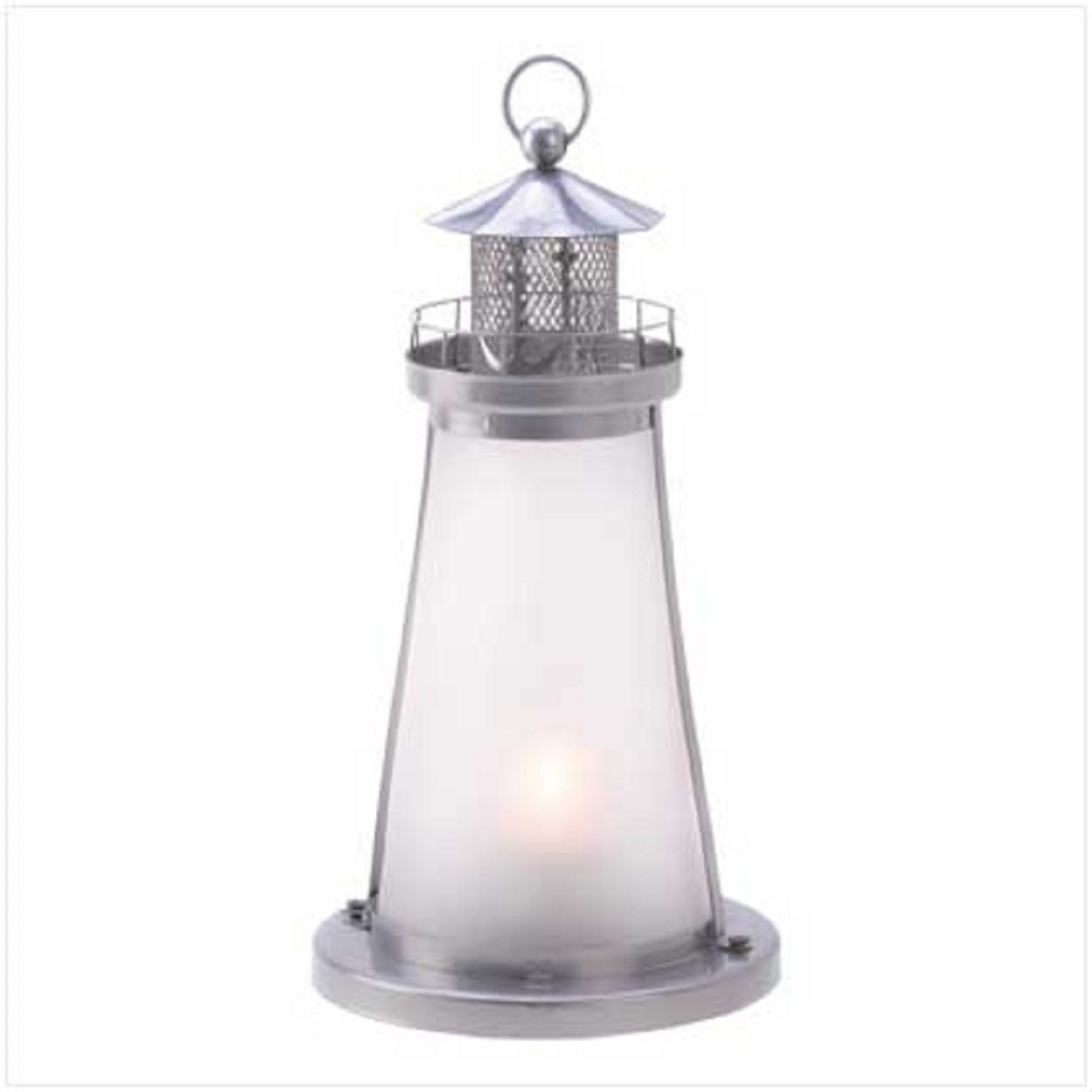 15 WHITE Frosted Lighthouse CANDLE LANTERN Table Decor WEDDING Centerpieces