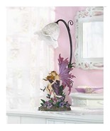 2 Fairy Orchid Girl Bedroom Purple Table Lamp Set of Two - New - $67.11