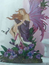 2 Fairy Orchid Girl Bedroom Purple Table Lamp Set of Two - New image 5