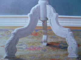 Lot 2 Round Tables CARVED WHITE Accent TABLE New image 3