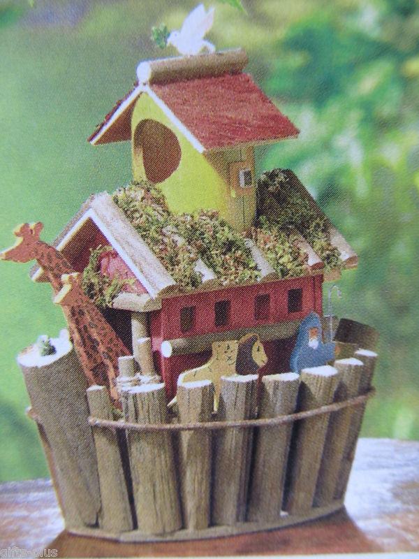 Lot 5 Animal Pair Noah's Arch Wood Birdhouse Centerpieces New