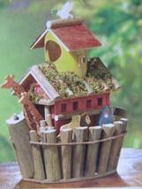 Lot 5 Animal Pair Noah's Arch Wood Birdhouse Centerpieces New image 1