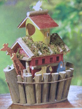 Lot 5 Animal Pair Noah's Arch Wood Birdhouse Centerpieces New image 2