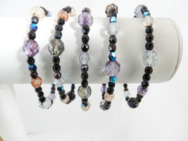 Joan Rivers Crystal Stretch Bracelet Different Shape Colors Smaller Bead... - $55.00