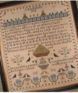 Susanah Rayment Learning 1818 Sampler cross stitch chart Black Branch Ne... - $14.40