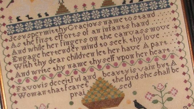Susanah Rayment Learning 1818 Sampler cross stitch chart Black Branch Needlework image 2