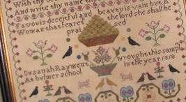 Susanah Rayment Learning 1818 Sampler cross stitch chart Black Branch Needlework image 3