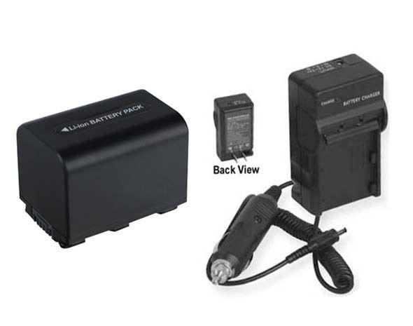 Battery +Charger For Sony HDRSR5 HDRSR5C HDR-SR5E HDRSR5E