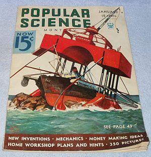 Vintage Complete Popular Science January 1934 Magazine Astronomer