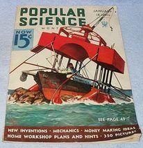 Vintage Complete Popular Science January 1934 Magazine Astronomer  image 1