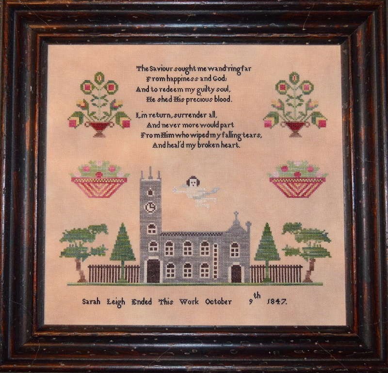 Sarah Leigh 1847 Sampler reproduction cross stitch chart Black Branch Needlework image 1