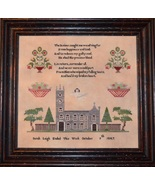 Sarah Leigh 1847 Sampler reproduction cross stitch chart Black Branch Ne... - $14.40