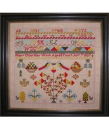Mary Utley 1837 Sampler reproduction cross stitch chart Black Branch Nee... - $14.40