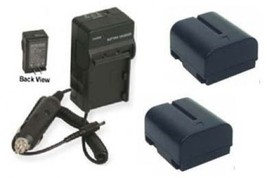Two Batteries + Charger For Jvc Gr D230 U Gr Dv300 Us Gr Dv200 Us Gr Dv500 Us Gr D30 - $28.76