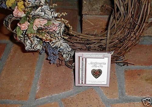 Longaberger Basket Tie On Heart Sweetheart Love Sentiments New In Box Valentine