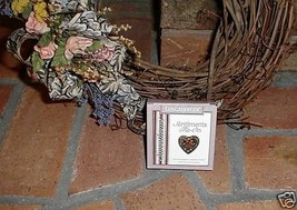 Longaberger Basket Tie On Heart Sweetheart Love Sentiments New In Box Valentine image 1