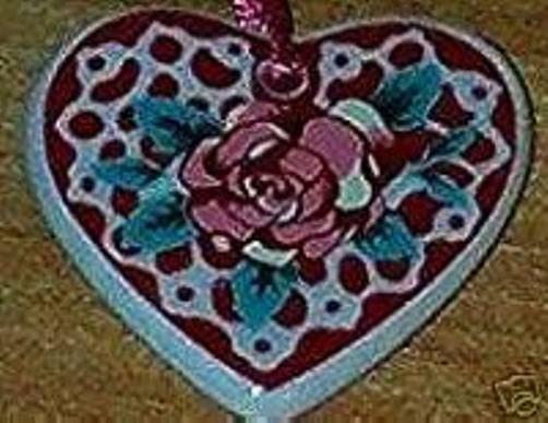 Longaberger Basket Tie On Heart Sweetheart Love Sentiments New In Box Valentine image 2
