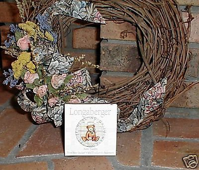 Longaberger Basket Tie On  2000 Baby Teddy Bear Pottery New In Box Authentic
