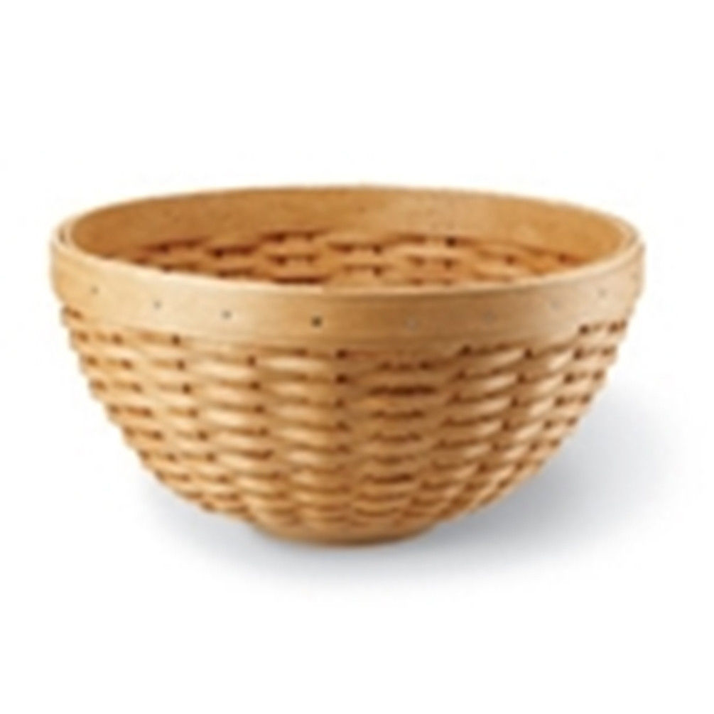 """Longaberger 11"""" Bowl Basket Woven Traditions Plaid OE Fabric Liner New In Bag"""