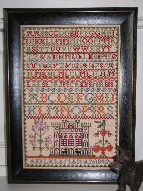Ann Lockart 1842 Sampler reproduction cross stitch chart Black Branch Needle image 1