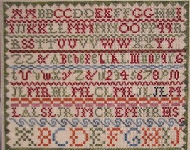 Ann Lockart 1842 Sampler reproduction cross stitch chart Black Branch Needle image 2