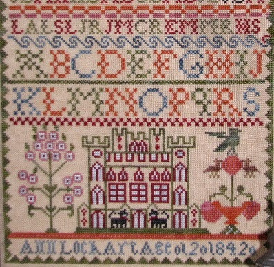 Ann Lockart 1842 Sampler reproduction cross stitch chart Black Branch Needle image 3