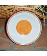 Longaberger Sunny Day Orange Salad Soup Cereal Bowls Set Of 2 Dinnerware... - $11.83