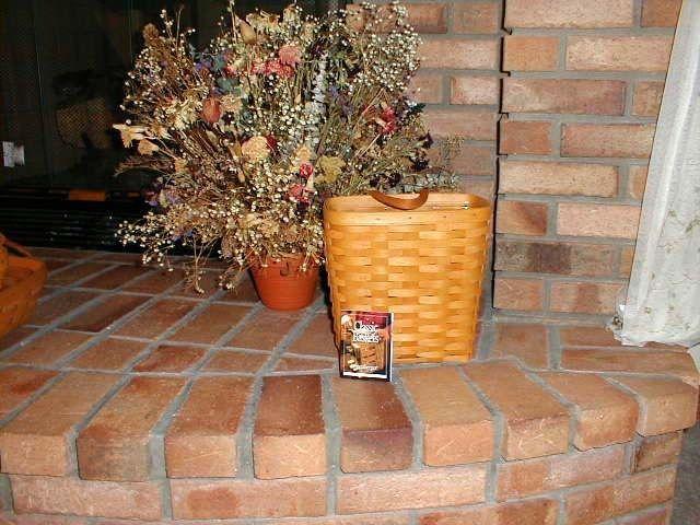 Longaberger Collectors Club 1st Membership Tall Key Basket Stripe Fabric Liner image 3
