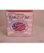 Longaberger Basket Tie On 25th Anniversary Flag Collector Club New In Box - $9.85