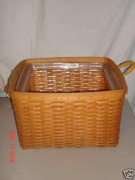 Longaberger Cottage Trellis Blue Fabric Hostess File Basket Over Edge Liner New image 2