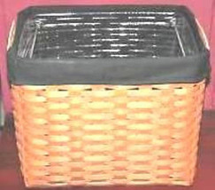 Longaberger Cottage Trellis Blue Fabric Hostess File Basket Over Edge Liner New image 3