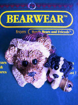 """Boyds Bearwear """"Northrup & The Pup"""" Resin Christmas Pin #26008*New image 1"""
