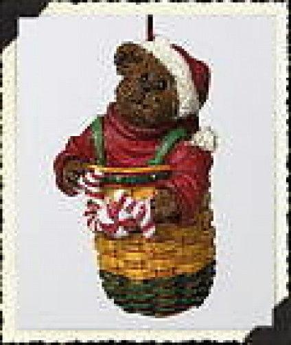"Boyds Longaberger Ornament ""Peppermint Elfbeary"" #257042LB-LE -NIB-2002 -Retired"