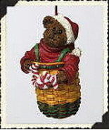"Boyds Longaberger Ornament ""Peppermint Elfbeary"" #257042LB-LE -NIB-2002 ... - $23.99"