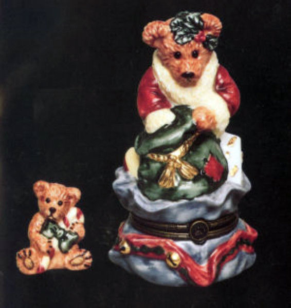 "Boyds Le Bearmoge- Porcelain Box ""Grenville..Santa's Helper"" #392001-NIB-Retired"