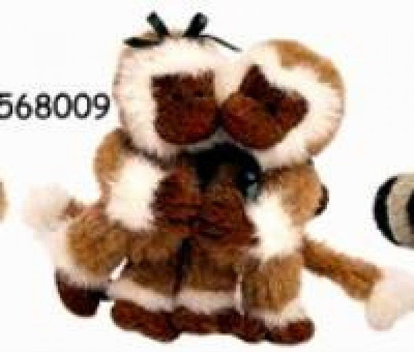 "Boyds Bears ""Monkey See & Monkey Doo"" 3.5"" Plush Monkeys #568009- Noahs Ark- NWT image 1"