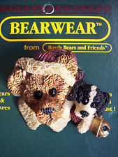 """Boyds Bearwear """"Northrup & The Pup"""" Resin Christmas Pin #26008*New image 2"""