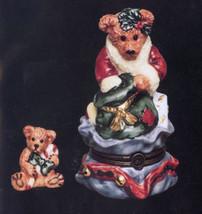 "Boyds Le Bearmoge- Porcelain Box ""Grenville..Santa's Helper"" #392001-NIB-Retired image 2"