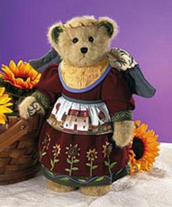 "Boyds Bears -Jim Shore ""Bless This Home"" #92006-14 -14"" Plush Bear-2008"