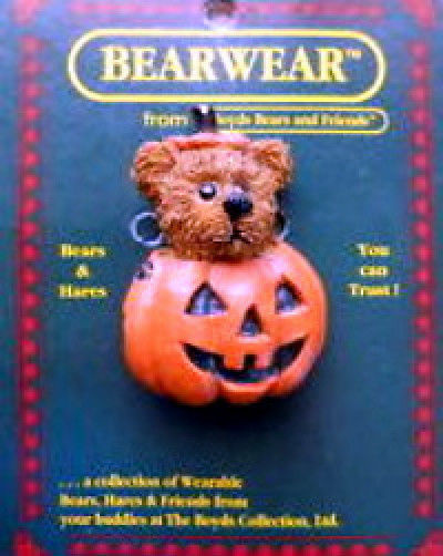 "Boyds BearWear ""Alden..Trick or Treat"" Lapel Pin-#26022- New -Retired image 1"