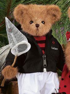 "Bearington Bears ""Lucky"" 14"" Collector Bear- Sku#1623 - NWT- 2006-Retired image 2"