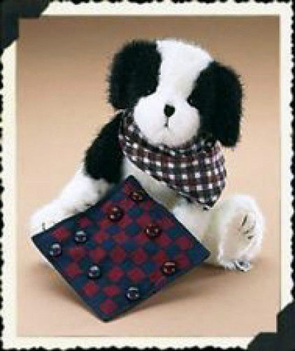 "Boyds Bears ""Checkers"" 10"" Plush Dog- #904593 NWT-  Retired"