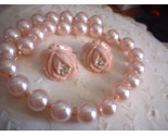 Plastic necklace rose earrings thumb155 crop