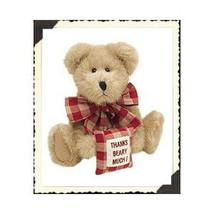"Boyds Bears ""Merci Bearcoo"" - 8"" Plush Bear -#903001- NWT- 2001- Retired image 1"