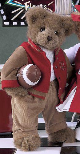 "Bearington Bears ""Tommy Touchdown"" 14"" Collector Bear- Sku#1606- NWT- 2005"